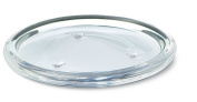 Bolsius Round Candle Plate, Glass, Clear