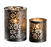 "tealight candle holder made of metal ""paisley"""
