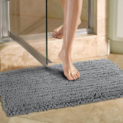 Norcho Non-slip Absorbent Multipurpose Mat Modern for Dog and Bathroom 50cm by 80cm Grey