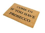 CKB Ltd® COME IN PROSECCO Novelty DOORMAT Unique Doormats Front / Back Door Mats Made with a non-slip PVC backing - Natural coir - Indoor & Outdoor