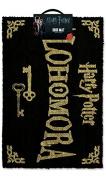 Harry Potter Alohamora Door Mat, Blue and Gold