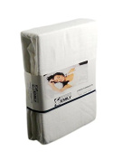 The House of Emily King Size Brushed Cotton Thermal Flannelette 30cm Deep Fitted Sheet - White