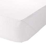 The House of Emily King Size 46cm Very Deep Fully Elasticated Fitted Sheet White 200 Thread Count