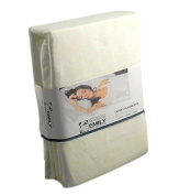 The House of Emily King Size Brushed Cotton Flannelette 30cm Extra Deep Fitted Sheet Cream