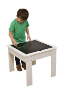 Liberty House Toys Activity Table with Reversible Top, Wood, White