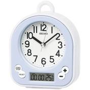 Seiko Splash Resistant Bathroom Alarm Clock, Plastic, White