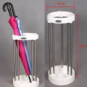 FB FunkyBuys® Rain Stand Stela Space Saving Stainless Steel Max 10pcs Umbrella Holder