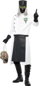 Smiffy's Adult Men's Dr D Ranged Costume, Coat, Gloves, Hat with Hair, Mask and Apron, Hell's Asylum, Halloween, Size