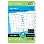 Day-Timer Monthly Planner Refill 2017, Two Page Per Month, Loose Leaf, 5-1/2 x 20cm - 1.3cm , Desk Size