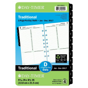 Day-Timer Daily Planner Refill 2017, One Page Per Day, Classic, 5-1/2 x 20cm - 1.3cm , Desk Size