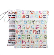 Baby Grab Go Wet and Dry Reusable Nappy Bag Mommy bag with Snap on Handle
