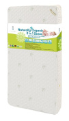 Crib Mattress, Baby Crib, 2-In-1 Crib Mattress, Blended Visco Bamboo Quilted Cover, Organic Cotton Layer, Dimensions 52.75x27.5x6, 260 Heavy-Duty 15.5 Gauge Steel Coils