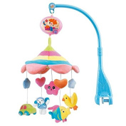 HOSIM Cot Crib Bell Musical Take along Mobile Soft Cute Plush Rotate Animals with 20 Melodies Music Infant Educational Toy Nursery Decor