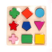 Pyage(TM) New Wooden Square Shape Puzzle Toy Montessori Early Educational Learning Kids Toy Gifts 3 Styles