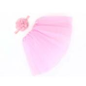 FEITONG Baby Newborn Toddler Puff Skirt+ Headband Flower Photography