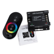 Tuscom 12V Touch Screen Dimmable Remote Wireless RF Controller For Led RGB Module Strip