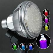 Tuscom Romantic Adjustable Automatic 360° 7 Colour LED Shower Head Facut Home Bathroom