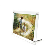 Aspire Acrylic Picture Frame, L-Frame Base Photo Holder - 9.5X7.5