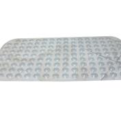 M-Egal Non-slip PVC Bathroom Suction Floor Mats with Solid Colour Cushion Massage Mats transparent white