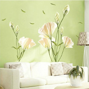 Removable Lily Flower Home Living Room Mural Decor Art Decal DIY Wall Sticker