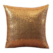 FreshZone Solid Colour Sequins Christmas Pillow Covers 18x18 Xmas Pillow Case Decorative For Home Sofa Living Room
