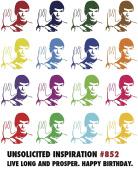 Quiplip UI846PCK Spock Birthday Card
