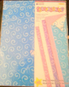 Printed Sheets Paper 10PC Polka Swirl Print BLue Pink Purple White Crafting Pack Scrapbooking
