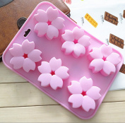 2016 .  Cherry blossom Shape 6 holes Silicone cake chocolate soap silicone mould mould for fondant handmade soap mould