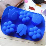 .  3D Cute Tulip Shape Silicone cake chocolate fondant soap silicone mould mould for fondant cake decorating