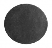 H & H Round Plate, Slate, Black, 25 x 25 x 0.5 cm