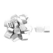 sourcingmap® Aluminium Heatsink Cooling Fin Cooler 9mm x 9mm x 5mm 30 Pcs Silver Tone