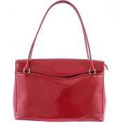 41cm Genuine Red Lacquered Leather Ladies Tote Bag | Business Work Bag