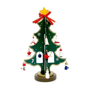 XY Fancy Christmas DIY Desktop Decoration Mini Wooden Small Christmas Tree Gifts Green