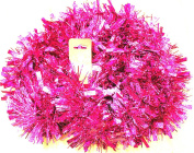 UNI -- Metallic Pink Garland with Pink Strips --200cm -- Holiday Decor