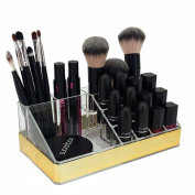 OnDisplay Annie Deluxe Acrylic Cosmetic/Jewellery Organisation Tray - Gold
