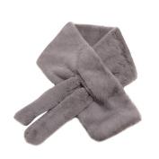 Sunfei Thickened Women Warm Winter Faux Fur Plush Scarf Lady Girls Scarves