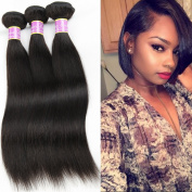 Beauty Youth Brazilian Straight Virgin Hair 3 Bundles Extensions 100% Unprocessed 7A Human Hair 1B