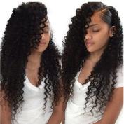 ALI JULIA Wholesale 7A Malaysian Virgin Deep Wave Hair Weave 4 Bundles 100% Unprocessed Remy Human Hair Extensions 95-100g/pc Natural Black Colour