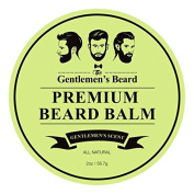 The Gentlemen's Premium Beard Balm Gentlemen's Scent – 60ml – Tame Your Beard With No Greasiness – Make It Look Thicker and Fuller