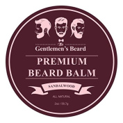 The Gentlemen's Premium Sandalwood Beard Balm – 60ml – Tame Your Beard With No Greasiness – Make It Look Thicker and Fuller