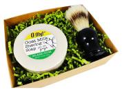 O My! Island Rum Goat Milk Shaving Soap & Brush Gift Pack