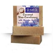 Zatik Coconut & Blue Cornflower Gentle, Hydrating Hand & Face Soap