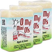 OMy! Goat Milk Soap Mini O! - Bundle of 3 - Apple & Clover