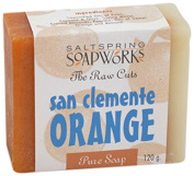 Saltspring Soapworks All Natural Raw Cut Hand Soap Bar, San Clemente, 120ml