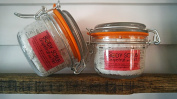 The Natural Sisterhood Grapefruit And Mint Whipped BODY SCRUB - 5. 120ml Glass Hermes Jar