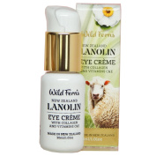Wild Ferns Lanolin, Collagen, and Vitamins C and E Eye Cream 99% Natural
