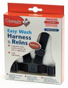 Clippasafe Premium Easy Wash Harness & Reins - 0-4 years - Navy Blue