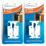 New 4 Pk Cabinet Drawer Latches Child Safety Cabinet Protection Latch Kids Locks