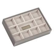 STACKERS Mink Mini 11 section Stacker Jewellery Box Grey Velvet Lining