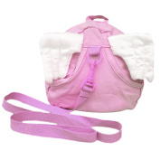 Baby Child Wings Style Cotton Anti Lost Safety Harness Leash Rope Bag Backpack Pink